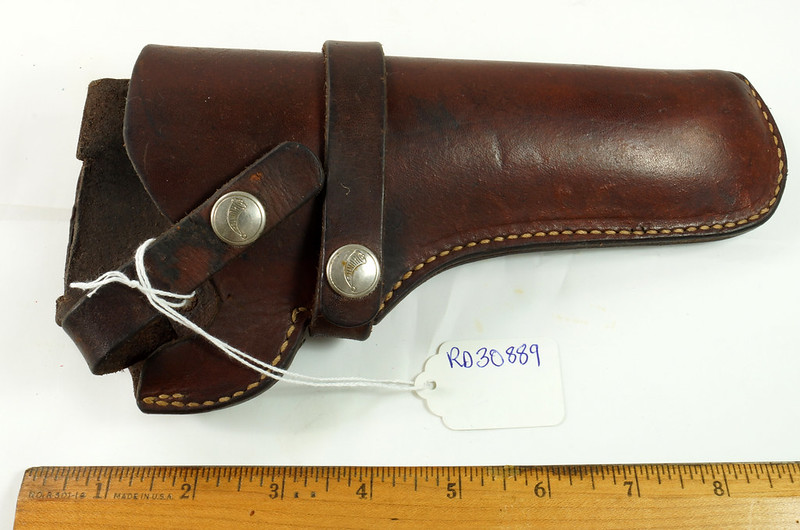 RD30889 Vintage Hunter Leather Holster 1100P 40 Colt Single Action Army DSC09899