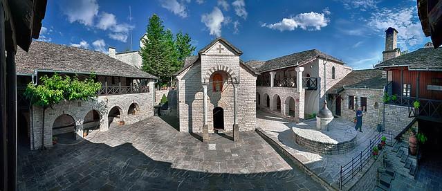 Ιερά Μονή γενεθλίου της Θεοτόκου Τσούκας                           Virgin Mary's birthday Holy  Monastery  of Tsouka  panorama