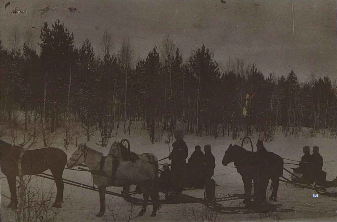 Езда на санях зимой. Новониколаевск1