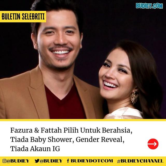 Fazura & Fattah Pilih Untuk Berahsia, Tiada Baby Shower, Gender Reveal, Tiada Akaun IG