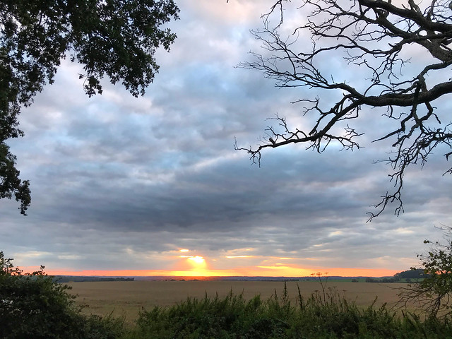 Cloudy Countryside Sunset