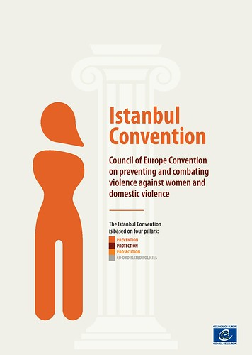 Infographics about four Pillars of the Istanbul Convention of the Council of Europe