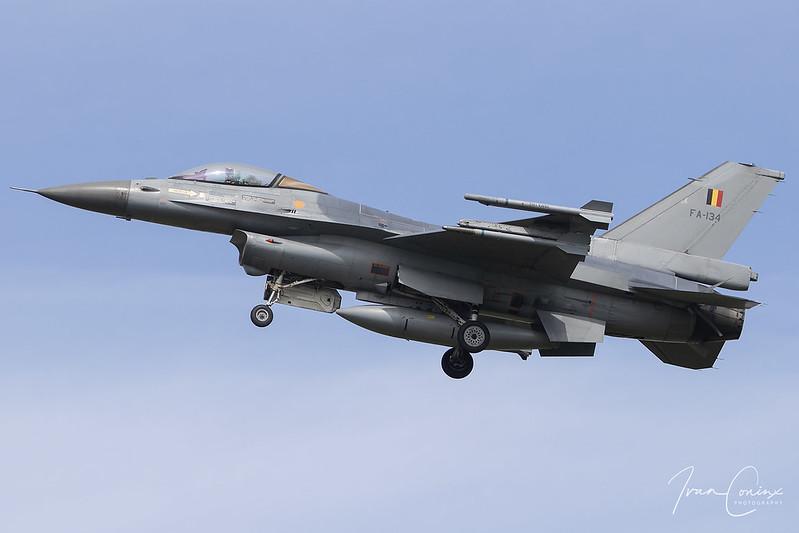 A Brief Look At My Flickr Photos - General Dynamics F-16AM Fighting Falcon – Belgium-Air Force – FA-134 – Kleine Brogel (EBBL) – 2020 08 19 – Landing RWY 23R – 01 – Copyright © 2020 Ivan Coninx