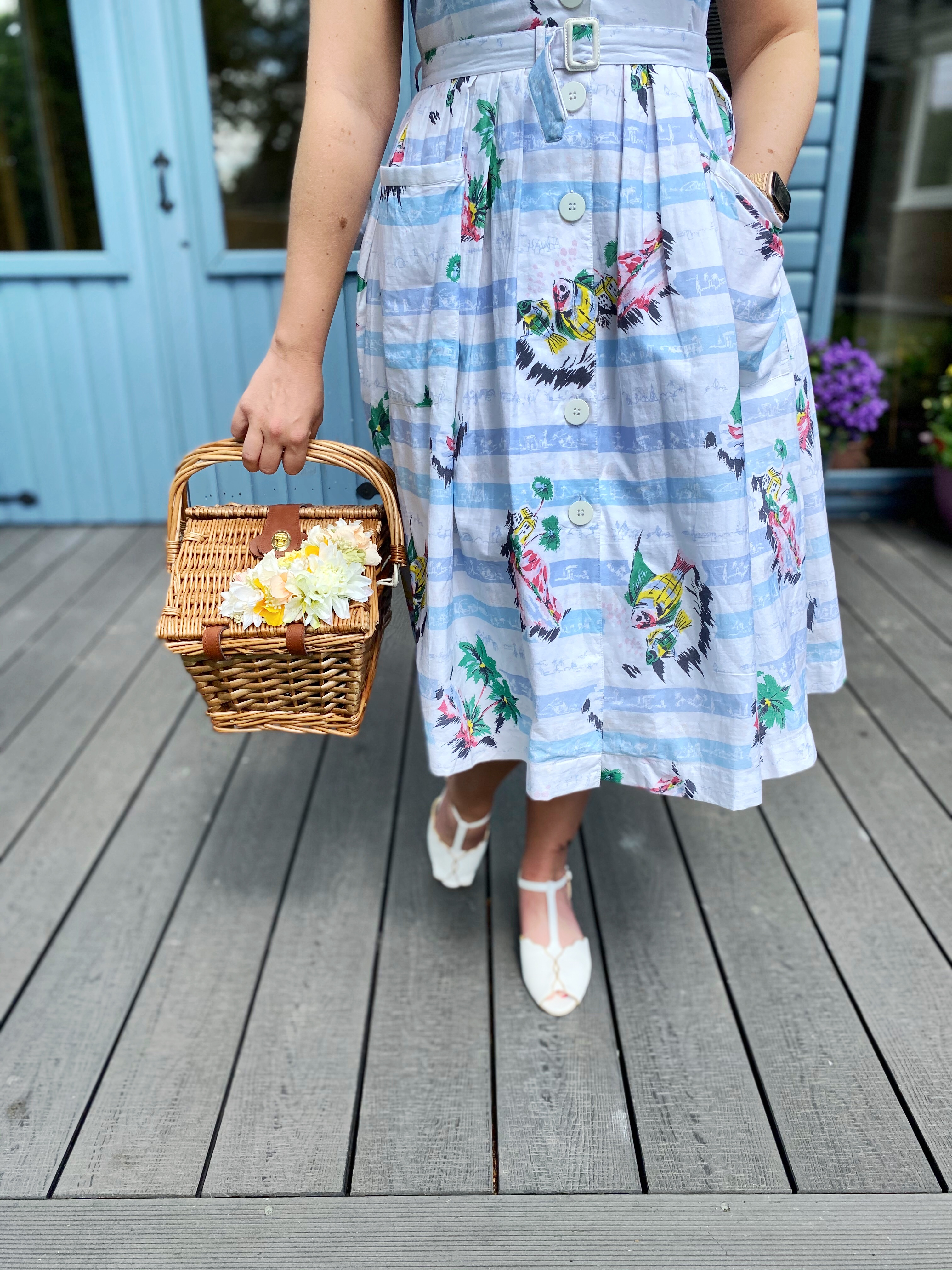 Sarah Vintage Basket from Classic Bags In Bloom