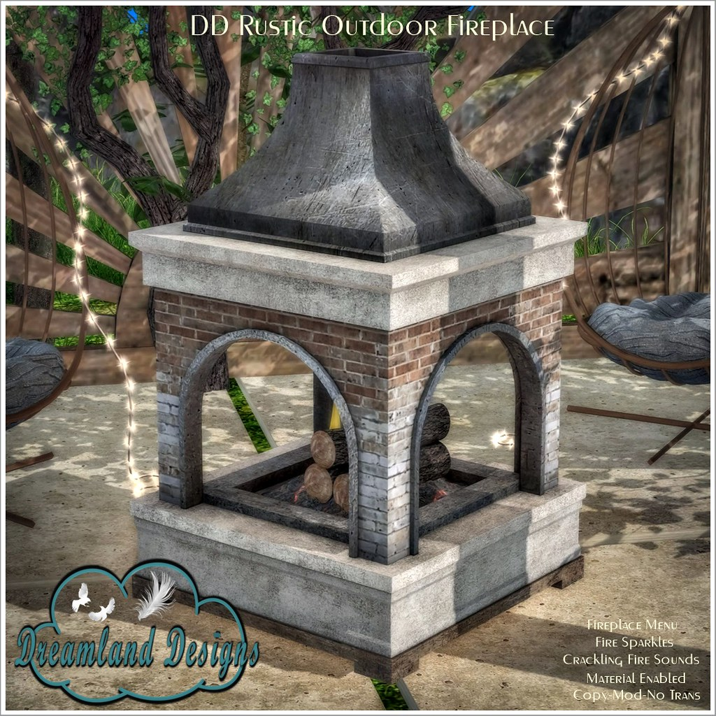 DD Rustic Outdoor Fireplace AD