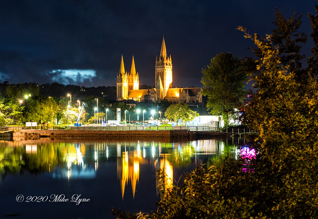 Truro Cathedral at dusk