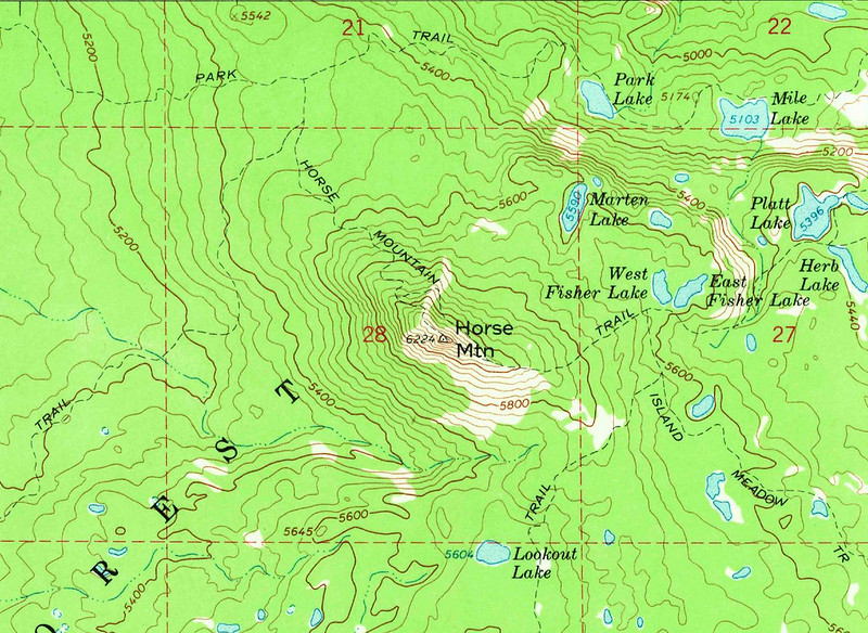 Horse Mountain Map