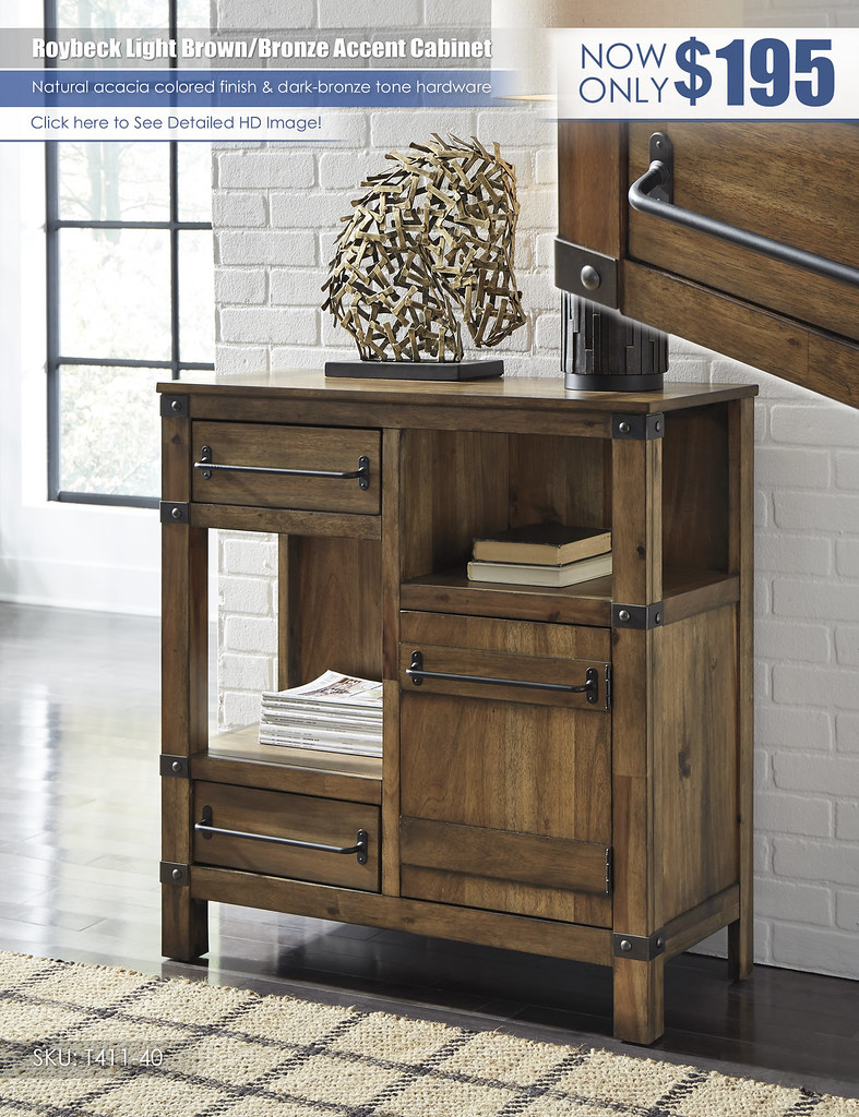 Roybeck Light Brown Accent Cabinet_T411-40