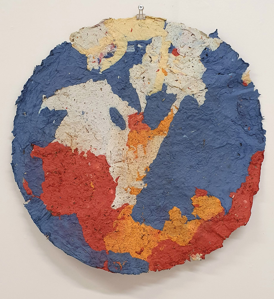 16. Dan Turner Yok 2019. 61 cm diameter. Recycled paper pulp, dried medicinal herbs