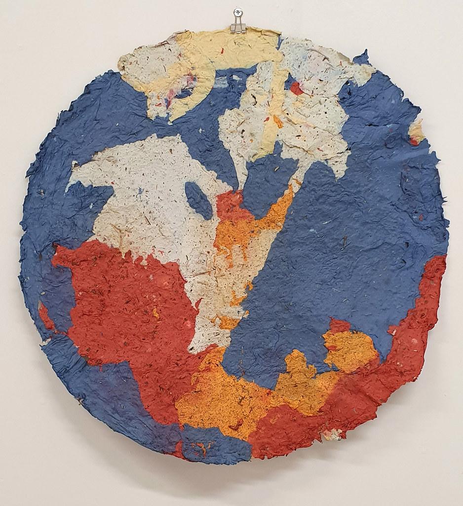 16. Dan Turner Yok 2019. 61 cm diameter. Recycled paper pulp, dried medicinal herbs