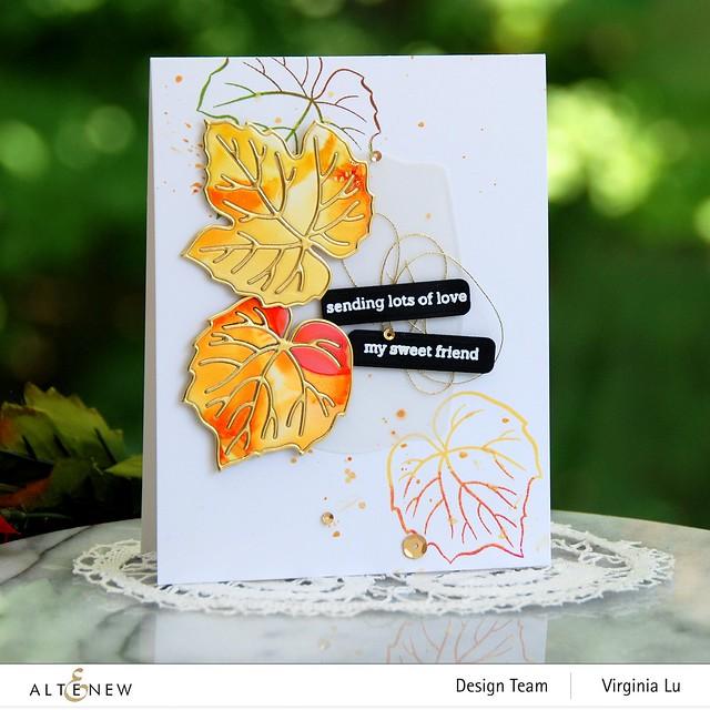 Altenew-Grape Leaves StampSet-GrapeLeaves Die Set-Featured Sentiment Die Set