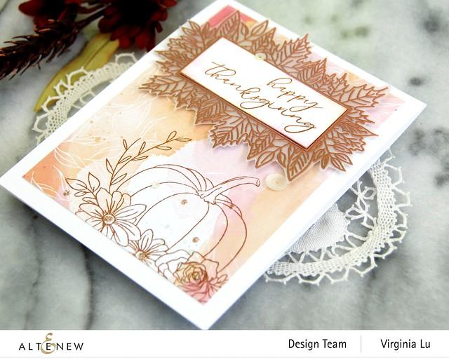 Altenew-Autumn Bounty Stamp Set- CopperEmbossing Power-Celebrate Papd Pad-003