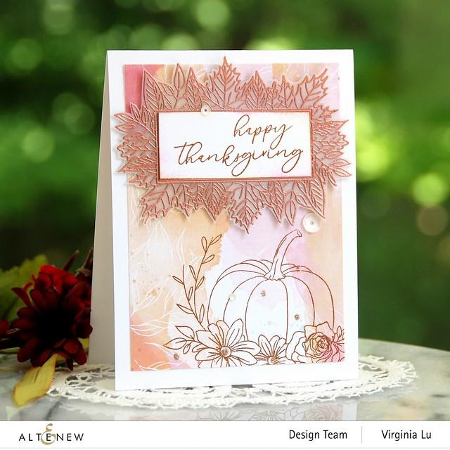 Altenew-Autumn Bounty Stamp Set- CopperEmbossing Power-Celebrate Papd Pad