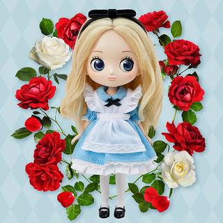 新系列Q posket Doll《愛麗絲夢遊仙境》迪士尼角色~愛麗絲~水汪汪大眼超夢幻!