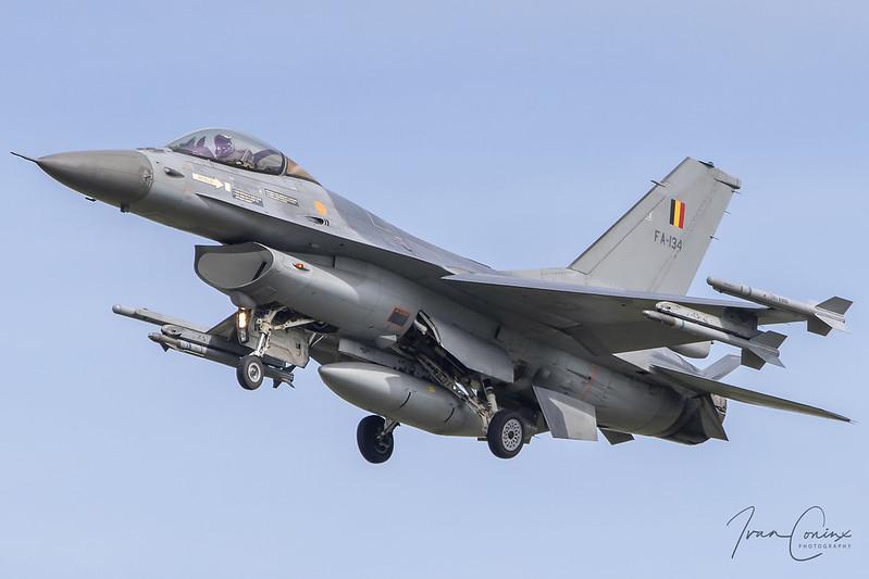 A Brief Look At My Flickr Photos - General Dynamics F-16AM Fighting Falcon – Belgium-Air Force – FA-134 – Kleine Brogel (EBBL) – 2020 08 19 – Landing RWY 23R – 03 – Copyright © 2020 Ivan Coninx