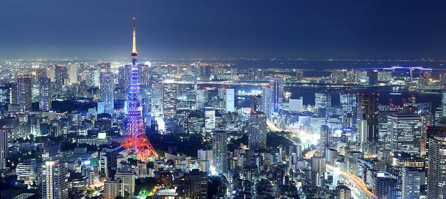 The Tokyo Tower at night