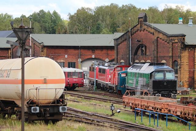 TRIANGULA Logistik GmbH: Mietlok 232 413-5 der Skinest Rail im Bw Chemnitz-Hilbersdorf