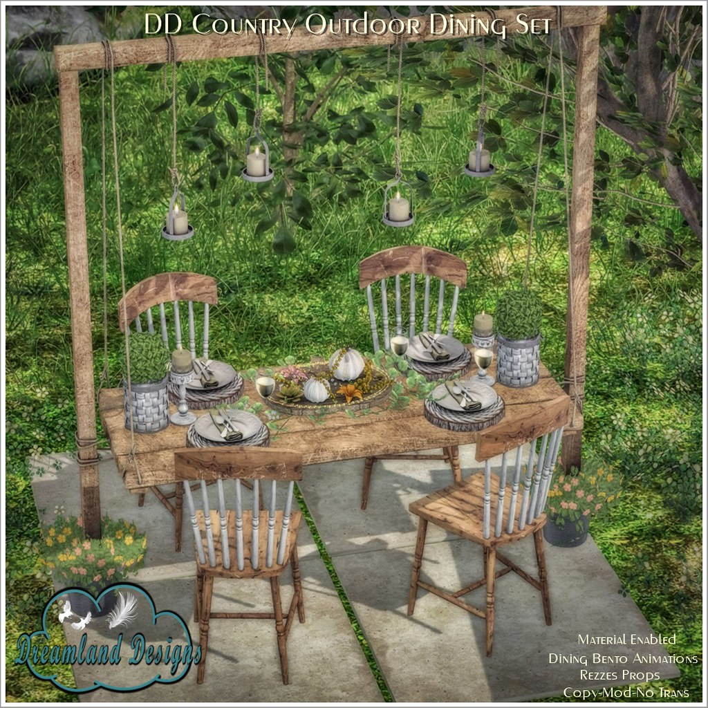 DD Country Outdoor Dining Set AD