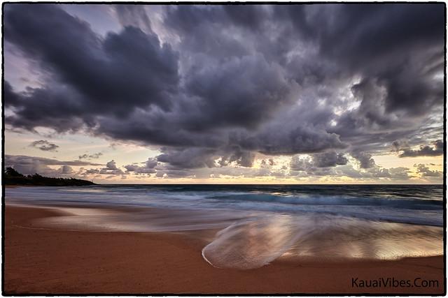 Blue Hour, Donkey Beach, Kauai.