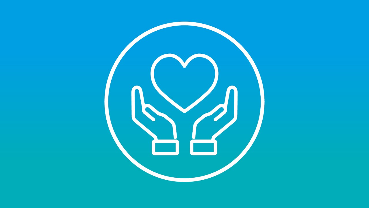 Icon of hands around a heart