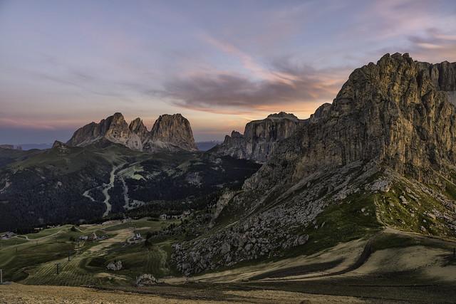 Dolomites....sunrise from Passo Pordoi