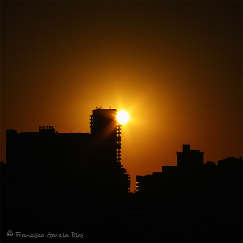calpe costa blanca alicante spain recesvintus sunrise dawn landscape skyline outdoors orange sky sun cityscape