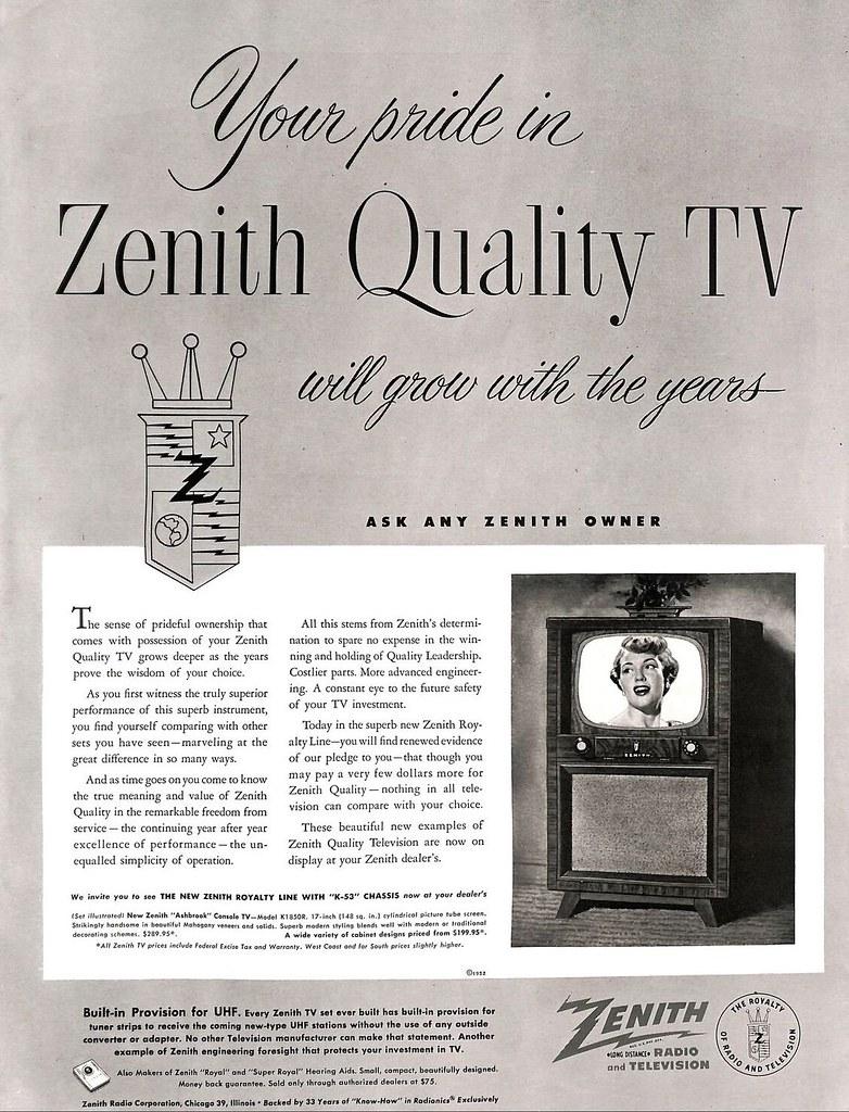 Zenith 1952