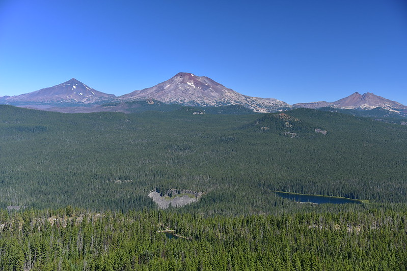 Middle Sister, South Sister, and Broken Top