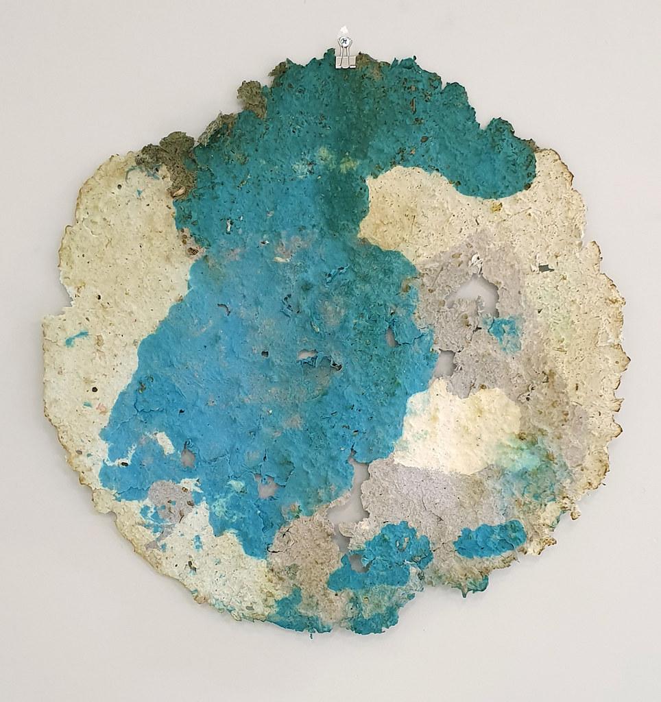 12. Dan Turner Mui 2019. 61 cm diameter. Recycled paper pulp, dried medicinal herbs