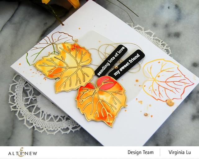 Altenew-Grape Leaves StampSet-GrapeLeaves Die Set-Featured Sentiment Die Set-002