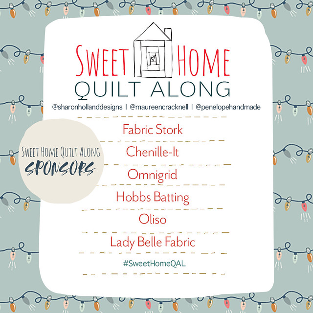 Sweet Home QAL Sponsors