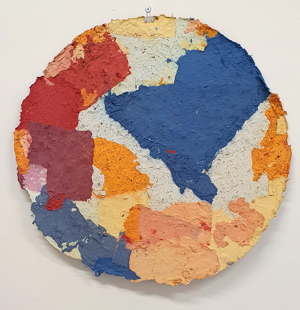 14. Dan Turner Kan 2019. 61 cm diameter. Recycled paper pulp, dried medicinal herbs