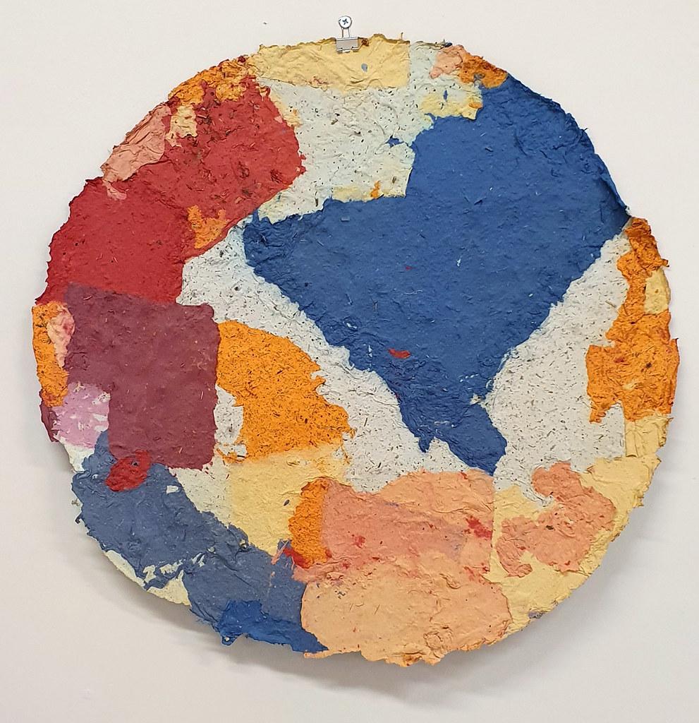 14. Dan Turner Kan 2019. 61 cm diameter. Recycled paper pulp, dried medicinal herbs