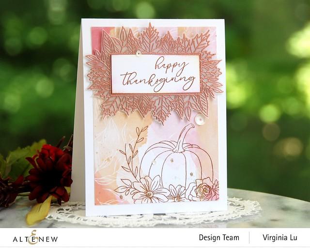 Altenew-Autumn Bounty Stamp Set- CopperEmbossing Power-Celebrate Papd Pad-001