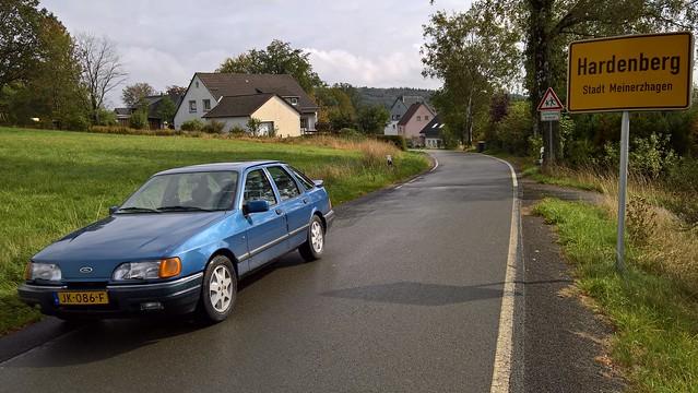 Ford Sierra 2.0 EFi Ghia 1987, Hardenberg, Meinerzhagen, Duitsland.