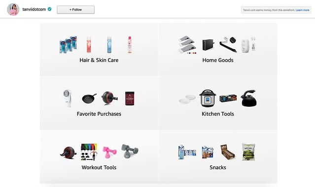 Amazon Store Front Tanvii.com
