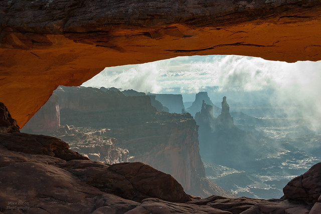 Foggy Sunrise at Mesa Arch