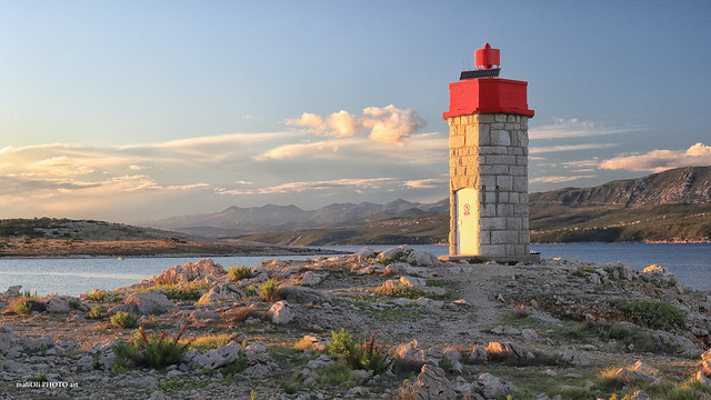 Lighthouse with red cap