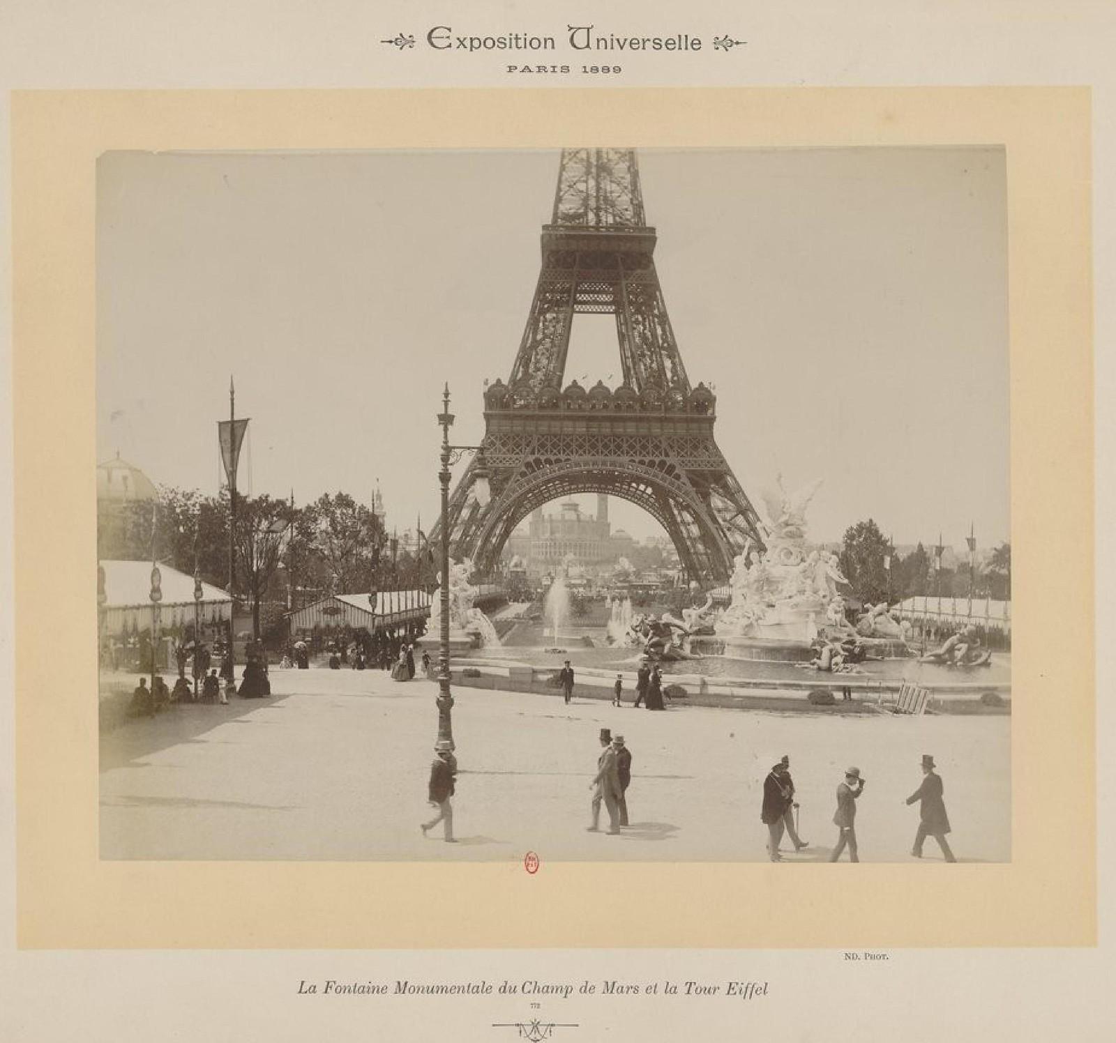 16. 1889. Монументальный фонтан Марсова поля и Эйфелева башня