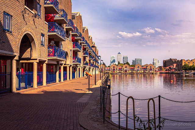 Archive 2012 Canary Wharf from reclaimed docks.  London