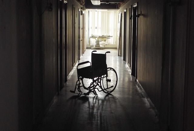 Inside the abandoned hospital...