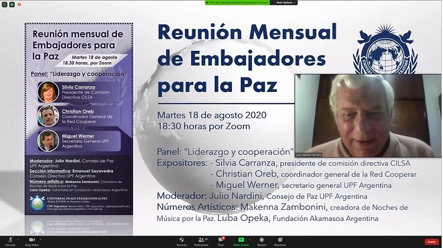 Argentina-2020-08-18-UPF-Argentina Continues Its Monthly Zoom Meetings for Ambassadors for Peace