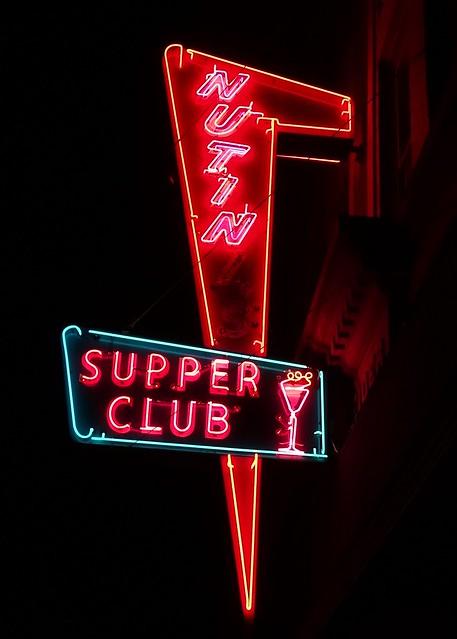 MI, Hancock-U.S 41 Nutini's Supper Club Neon Sign