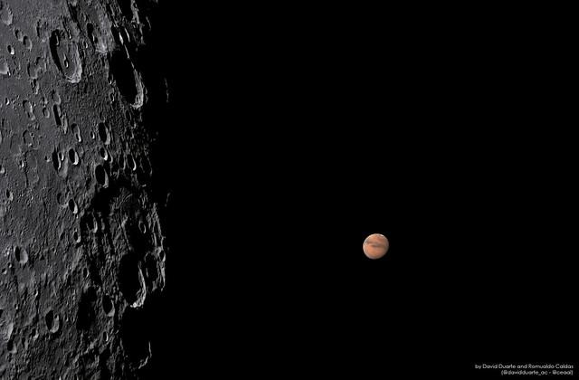 Lunar Occultation of Mars 2020-09-06 at 04:39 UT