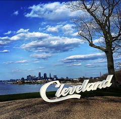 Beautiful day in Cleveland. Edgewater Park. Photo taken April 11, 2020.
