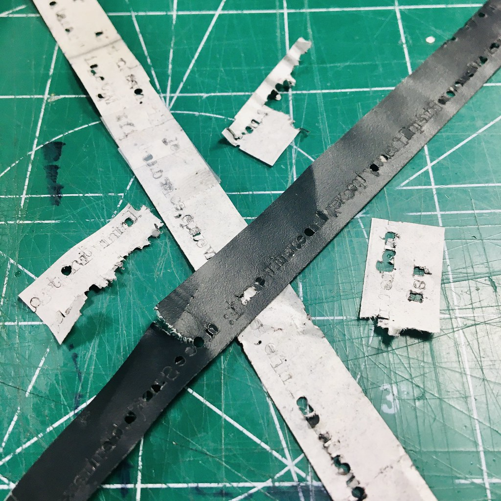 Used Carbon Paper Ribbon Scraps