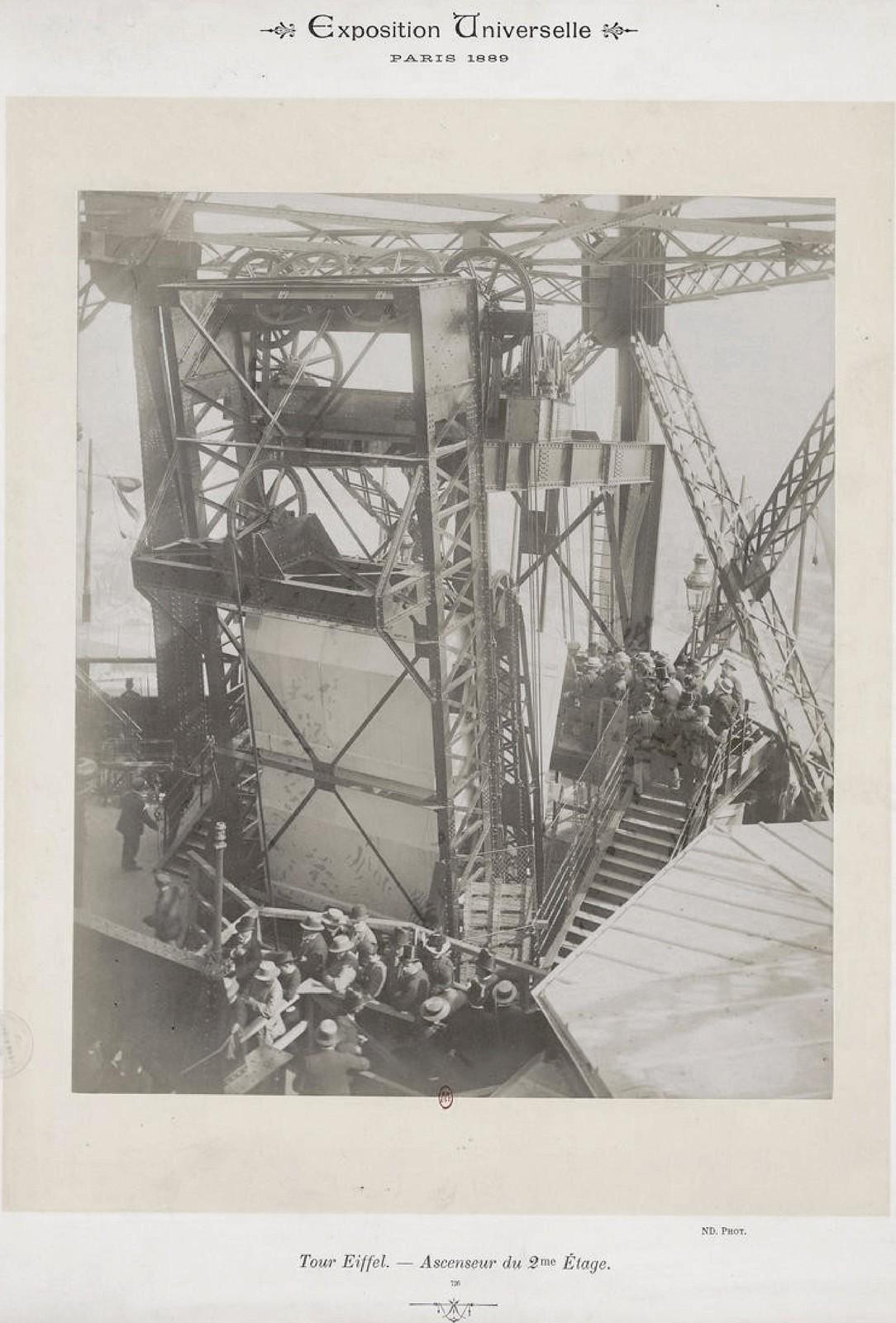 07. 1889. Эйфелева башня. Лифт 2-го этажа