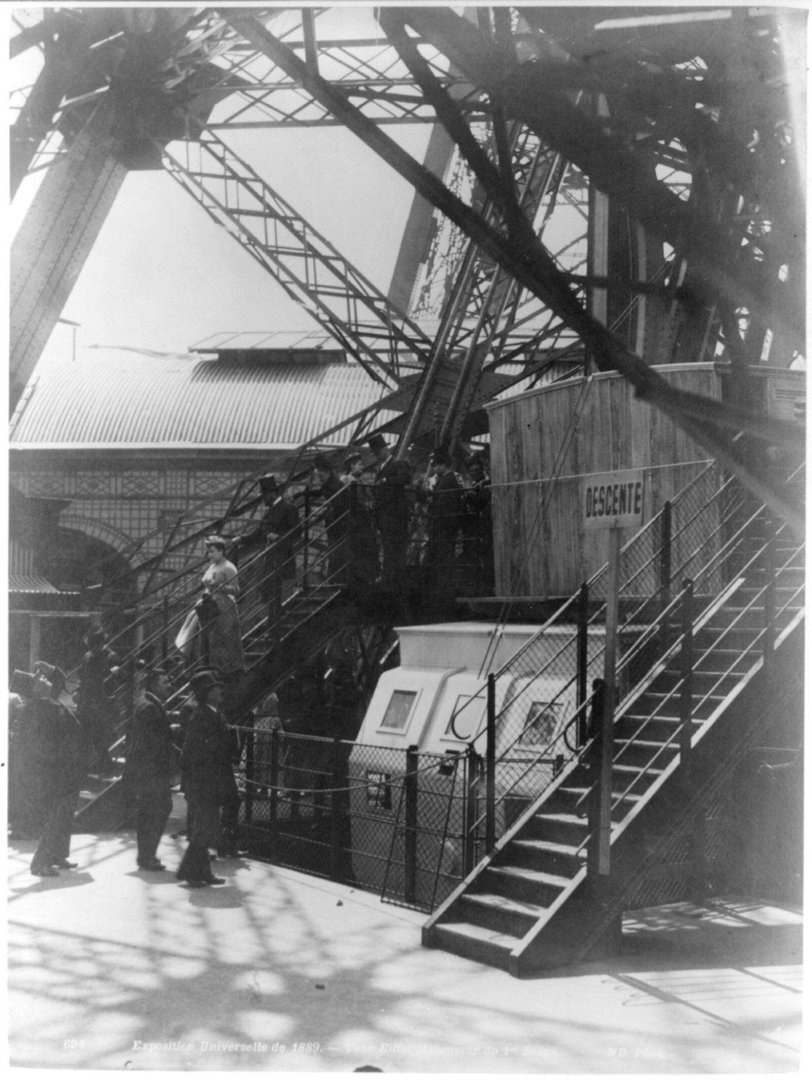 05. 1889. Эйфелева башня. Лифт 1-го этажа