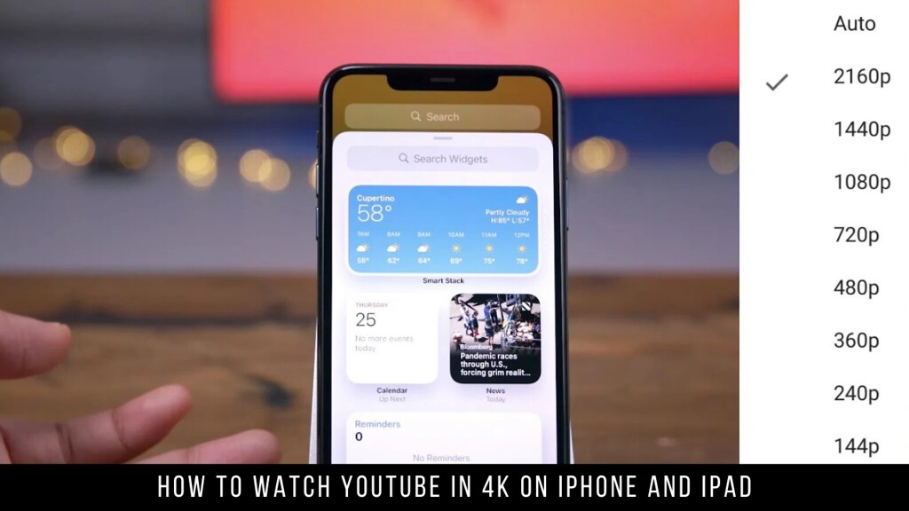 How to Watch YouTube in 4K on iPhone and iPad