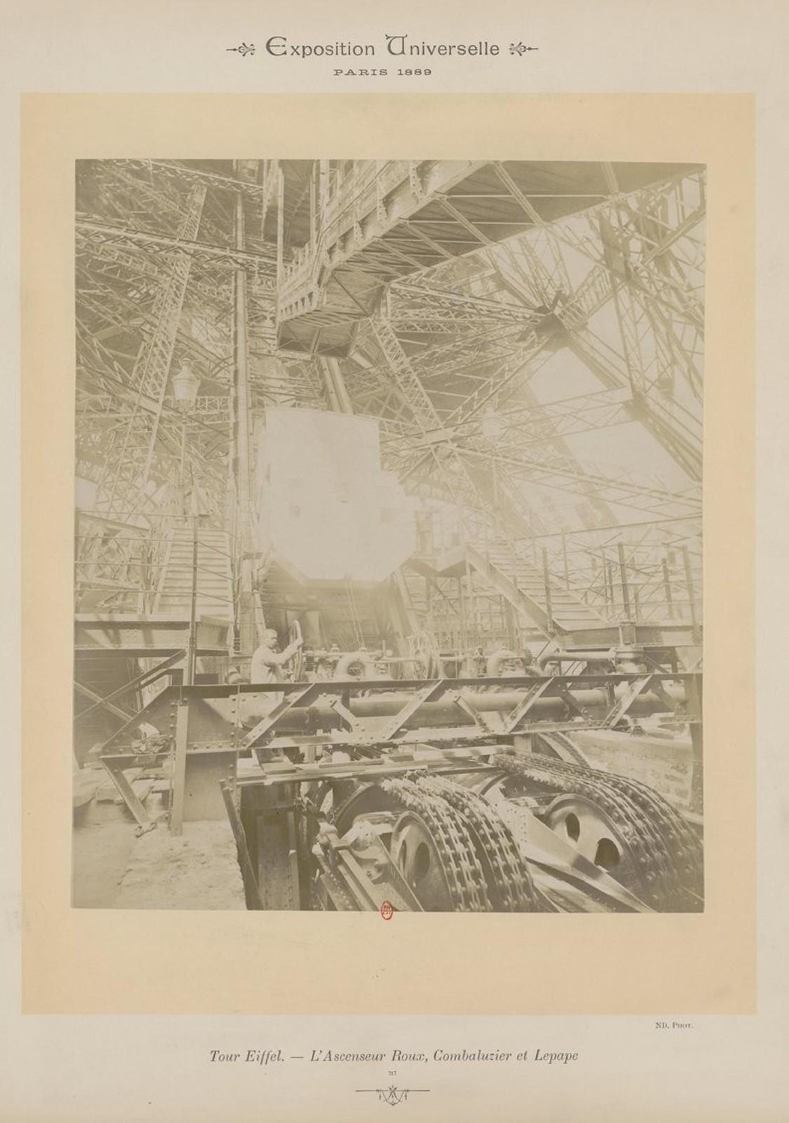 21. 1889. Эйфелева башня. Подъемники Roux, Combaluzier и Lepape